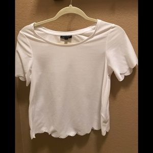 Topshop scalloped tee BRAND NEW